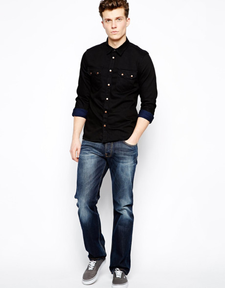 Jeans Black Shirt | Artee Shirt